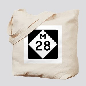 M-28, Michigan Tote Bag