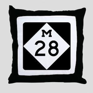 M-28, Michigan Throw Pillow