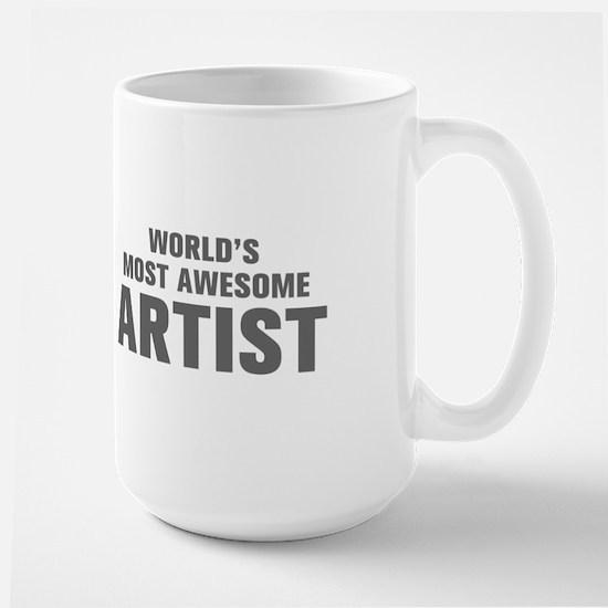 WORLDS MOST AWESOME Artist-Akz gray 500 Mugs