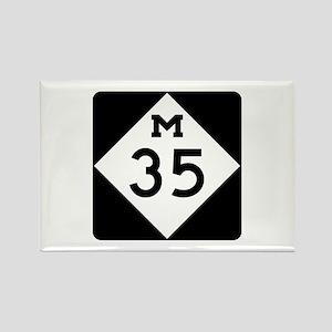 M-35, Michigan Rectangle Magnet