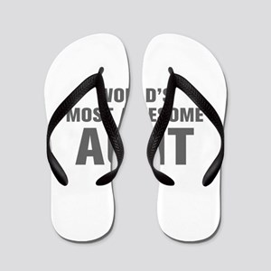 402df1cd9843 WORLDS MOST AWESOME Aunt-Akz gray 500 Flip Flops
