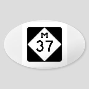 M-37, Michigan Sticker (Oval)