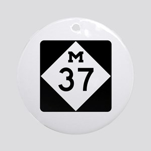 M-37, Michigan Ornament (Round)