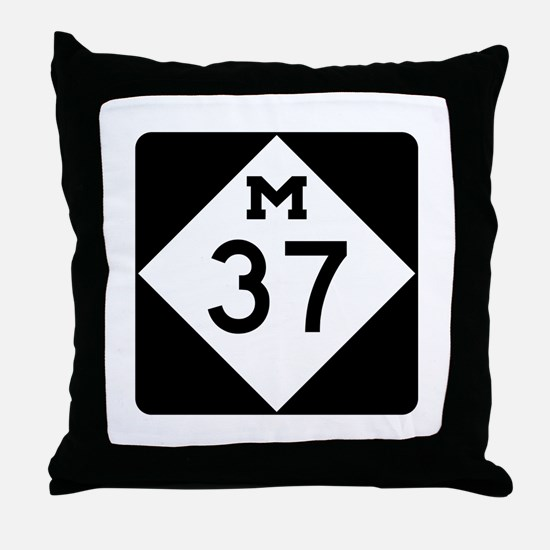 M-37, Michigan Throw Pillow