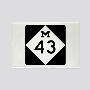 M-43, Michigan Rectangle Magnet