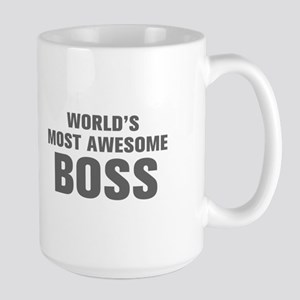 WORLDS MOST AWESOME Boss-Akz gray 500 Mugs