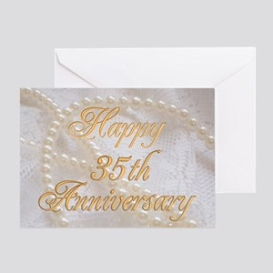 35th wedding anniversary greeting cards cafepress