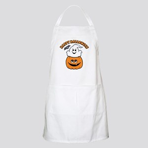 Ghost In Pumpkin BBQ Apron