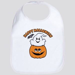Ghost In Pumpkin Bib