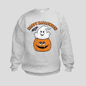 Ghost In Pumpkin Kids Sweatshirt