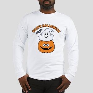 Ghost In Pumpkin Long Sleeve T-Shirt