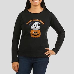 Ghost In Pumpkin Women's Long Sleeve Dark T-Shirt