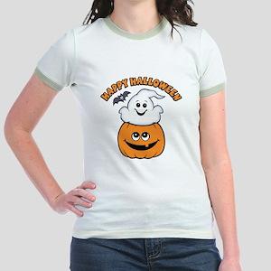 Ghost In Pumpkin Jr. Ringer T-Shirt