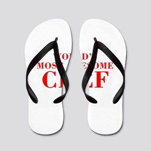 WORLDS MOST AWESOME Chef-Bod red 300 Flip Flops