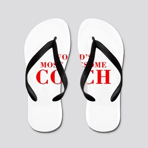 WORLDS MOST AWESOME Coach-Bod red 300 Flip Flops
