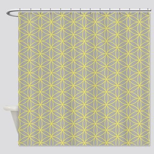 Flower of Life Ptn YG Shower Curtain