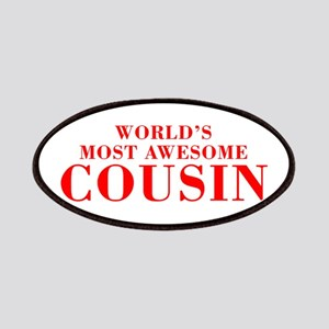 WORLDS MOST AWESOME Cousin-Bod red 300 Patch