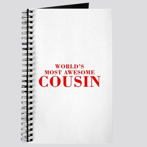 WORLDS MOST AWESOME Cousin-Bod red 300 Journal