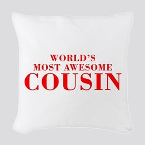 WORLDS MOST AWESOME Cousin-Bod red 300 Woven Throw