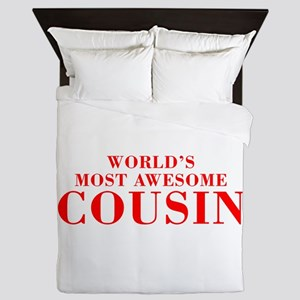 WORLDS MOST AWESOME Cousin-Bod red 300 Queen Duvet