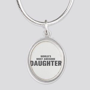 WORLDS MOST AWESOME Daughter-Akz gray 500 Necklace