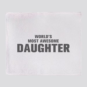 WORLDS MOST AWESOME Daughter-Akz gray 500 Throw Bl