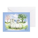 Goat-AngoraWithKid Greeting Cards (Pk of 10)