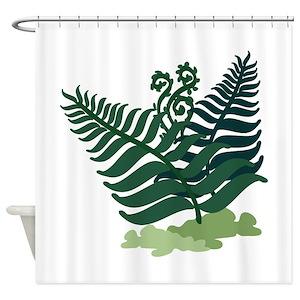 Fern Leaf Shower Curtains