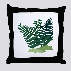 Fern Plant Throw Pillow