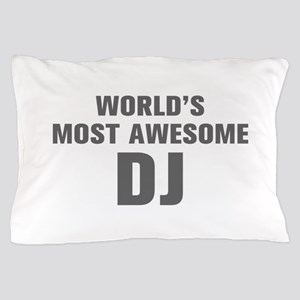WORLDS MOST AWESOME DJ-Akz gray 500 Pillow Case