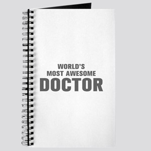 WORLDS MOST AWESOME Doctor-Akz gray 500 Journal