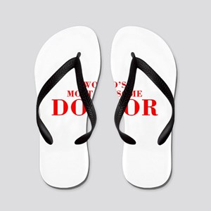 WORLDS MOST AWESOME Doctor-Bod red 300 Flip Flops