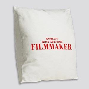 WORLDS MOST AWESOME Filmmaker-Bod red 300 Burlap T