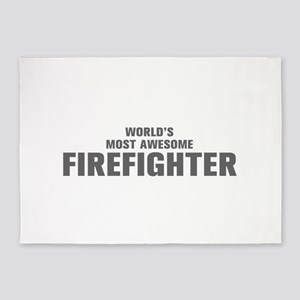 WORLDS MOST AWESOME Firefighter-Akz gray 500 5'x7'