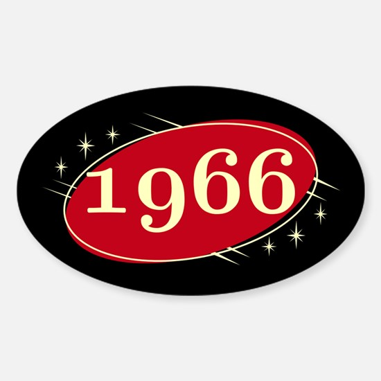 Year 1966 Black/Red Neo Retro Oval Decal