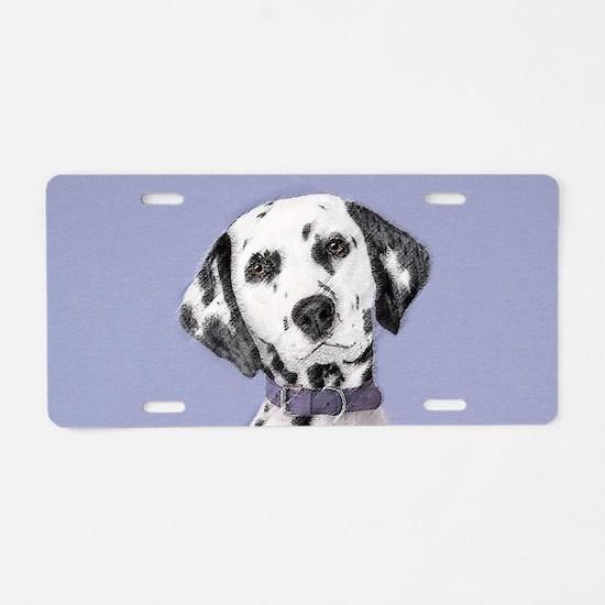 Dalmatian Aluminum License Plate