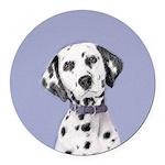 Dalmatian Round Car Magnet