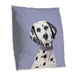Dalmatian Burlap Throw Pillow