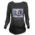 Dalmatian Long Sleeve Maternity T-Shirt