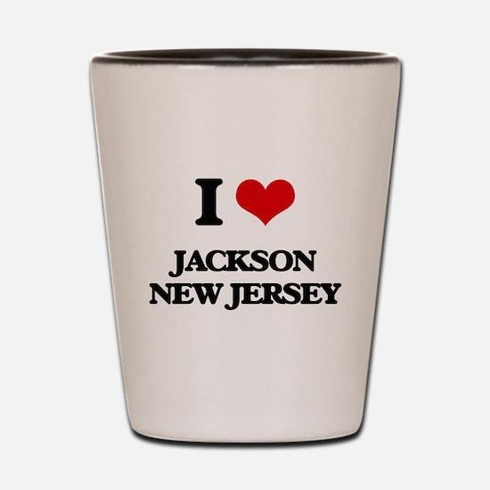 I love Jackson New Jersey Shot Glass