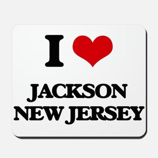 I love Jackson New Jersey Mousepad