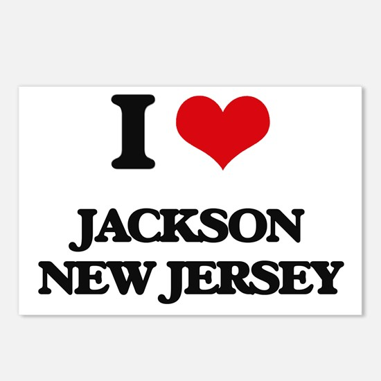 I love Jackson New Jersey Postcards (Package of 8)