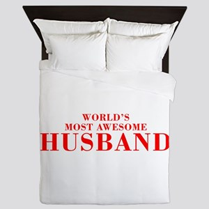 WORLDS MOST AWESOME Husband-Bod red 300 Queen Duve