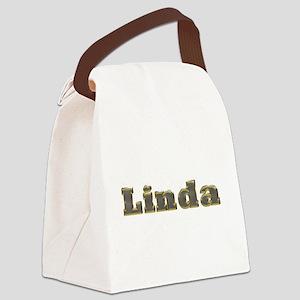 Linda Gold Diamond Bling Canvas Lunch Bag