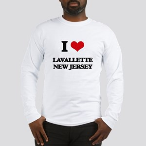 I love Lavallette New Jersey Long Sleeve T-Shirt