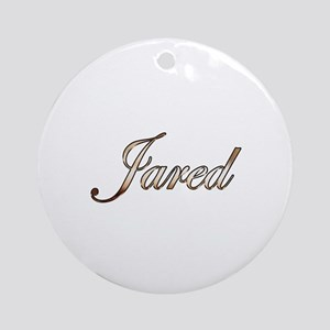 Gold Jared Round Ornament