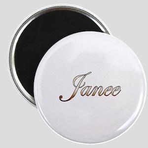 Gold Janee Magnet