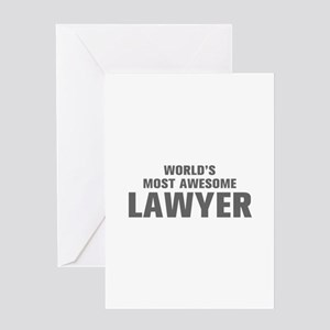 WORLDS MOST AWESOME Lawyer-Akz gray 500 Greeting C
