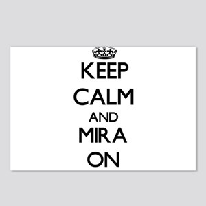 Keep Calm and Mira ON Postcards (Package of 8)