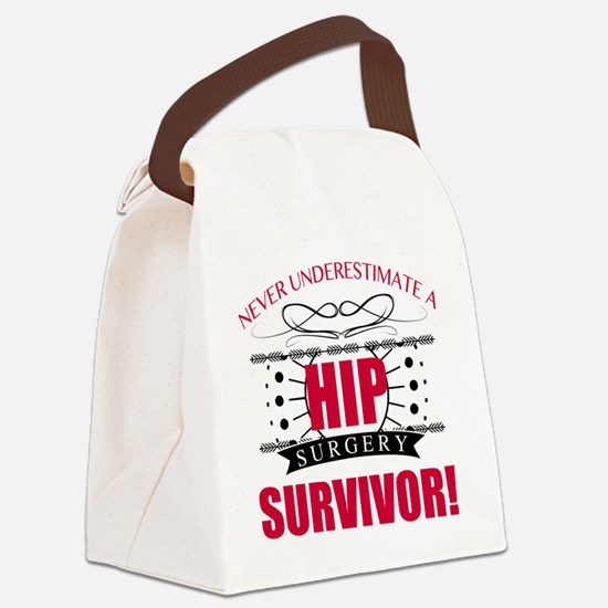 Funny Hip Canvas Lunch Bag